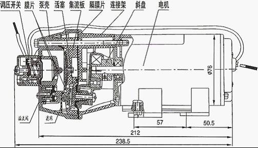 dp型微型隔膜泵结构图